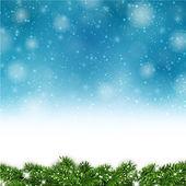 青いクリスマス背景. — ストックベクタ