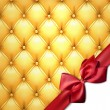 Golden vector upholstery leather pattern background. — Векторная иллюстрация