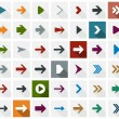 Stock Vector: Flat arrow icons.