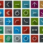 Flat arrow icons. — Stock Vector