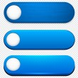 Stock Vector: Blue high-detailed modern web buttons.
