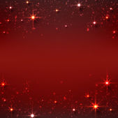 Christmas red starry background. — Stock Vector