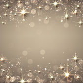Christmas golden starry background. — Stock Vector