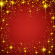 Christmas red starry background. — Stock Vector #35783459