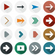 Flat arrow icons. — Stock Vector #35783497