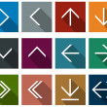 Flat arrow icons. — Stock Vector #35783611
