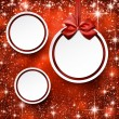 Christmas balls on red background. — Stock Vector