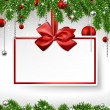 Christmas background with invitation card. — Image vectorielle