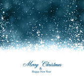 Christmas dark blue abstract background. — Stock Vector