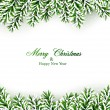Fir christmas frame. — Vettoriale Stock