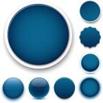 Round dark blue icons. — Stock Vector #36306315