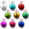 Stock Vector: Set of realistic christmas balls.