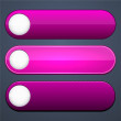 Magenta high-detailed modern web buttons. — Stock Vector #36306417