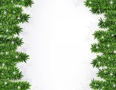 Fir christmas frame. — Vector de stock