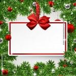 Christmas frame with invitation card. — Stock Vector #36814235