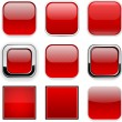 Square red app icons. — Stock Vector #36814271