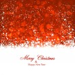Christmas red abstract background. — Stock Vector
