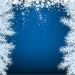 Christmas blue abstract background. — Vektorgrafik