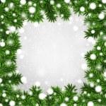 Fir christmas frame. — Stock Vector #36814313