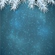 Christmas blue abstract background. — Stock Vector