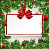 Christmas frame with invitation card. — Stock Vector