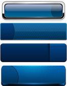 Dark-blue modern web buttons. — Stock Vector