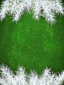 Christmas green abstract background. — Stock Vector