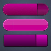Magenta modern web buttons. — Stock Vector