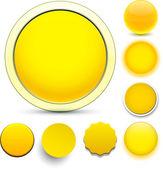 Round yellow icons. — Stock Vector
