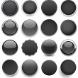 Round black icons. — Stock Vector