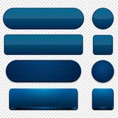 Dark-blue high-detailed modern web buttons. — Stock Vector