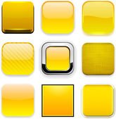 Square yellow app icons. — Stock Vector