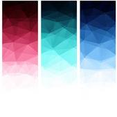 Abstact geométrica poligonal. — Vector de stock