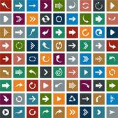 ícones da seta plana. — Vetorial Stock