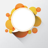 Paper round speech bubble — Vector de stock