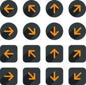 Plochá šipky ikony. — Stock vektor