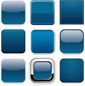 Dark blue square buttons — Stockvector