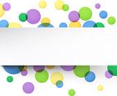 彩色气泡背景 — 图库矢量图片
