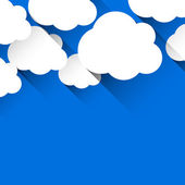 Flat paper clouds — Vector de stock