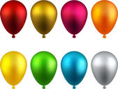 Set of realistic balloons. — Stock Vector