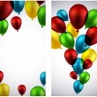 Celebrate banners with balloons. — Stock Vector #48095861