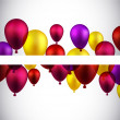 Celebrate banners with balloons. — Stock Vector #48095877