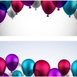 Celebrate banners with balloons. — Stock Vector #48095879