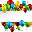 Celebrate colorful background with balloons. — Stock Vector