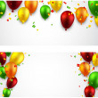 Celebrate banners with balloons. — Stock Vector #48096741
