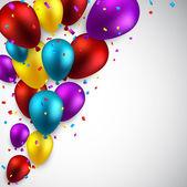 праздновать фон с воздушными шарами. — Cтоковый вектор