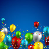 Celebrate background with balloons. — Stock vektor
