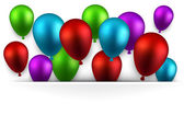 świętować kolorowe tła z balonów. — Wektor stockowy