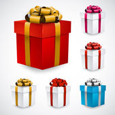 Set of gift boxes. — Stock Vector