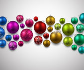 Gift card with christmas balls. — Stock Vector